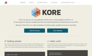 Kore – Writing Scalable Web APIs in C