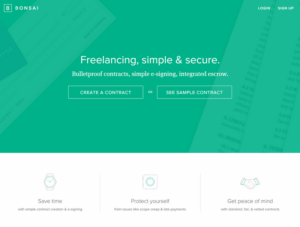 Bonsai – Contracts, Simple e-Signing, Integrated Escrow