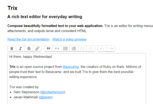 Trix – Rich Text Editor for Everyday Writing